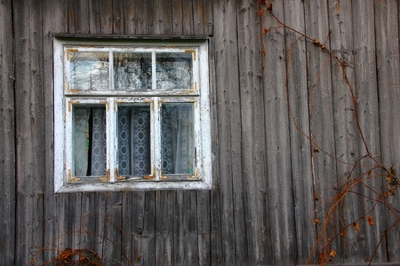 Window in old wooden house Stock Photo - 8330035