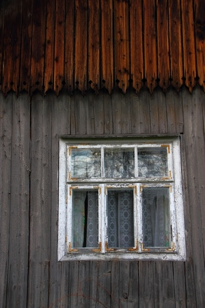 Window in old wooden house Stock Photo - 8330034