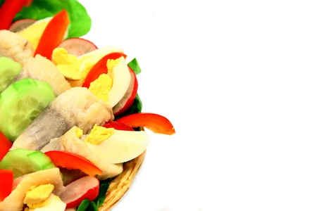 Beauty tasty colorful vegetables salad photo
