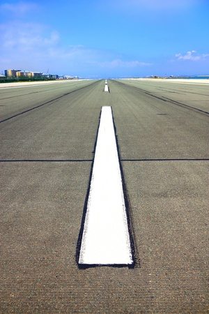 Airport runway for airplanes in Gibraltar photo