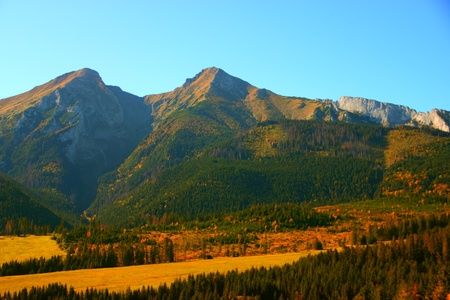 Beautiful view of Slovakian High Tatras Mountains photo
