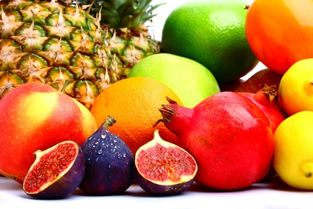 Collection of delicious fresh fruits photo