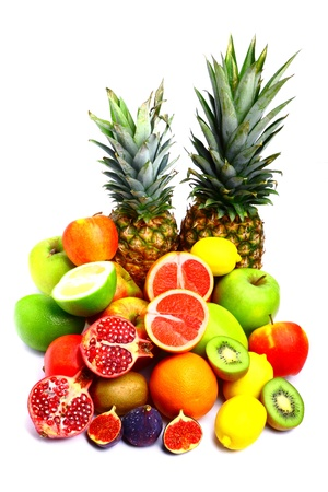 Collection of delicious fresh fruits Stock Photo - 11624441