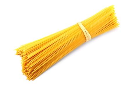 Bunch of spaghetti pasta isolated on white background Stock Photo