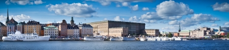 Beautiful panorama view of Gamla Stan, Stockholm, Sweden photo