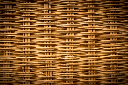 Brown wicker texture background made from basket photo