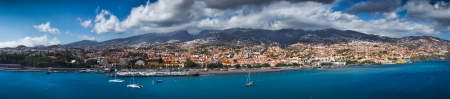 Funchal capital city of Madeira view from the sea
