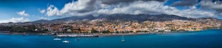 Funchal stolicy Madery widok z morza