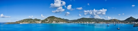 Beautiful panorama of Philipsburg, Saint Martin, Caribbean Islands
