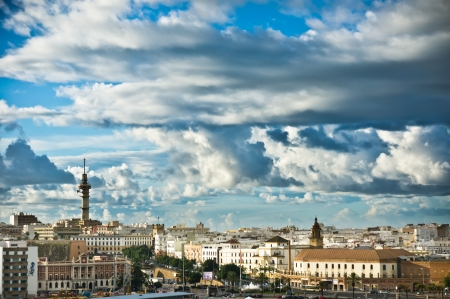 Beautiful view of Cadiz old city, Spain photo