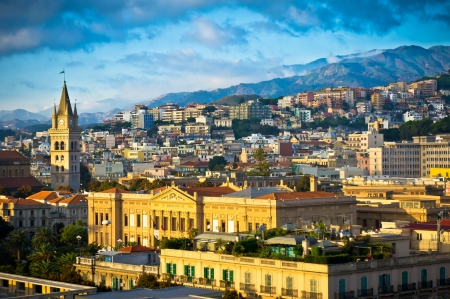 Beautiful view of Messina old city, Sicily, Italy