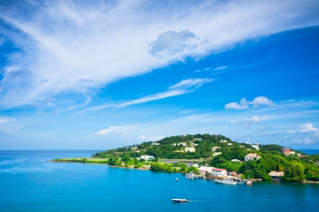 Beautiful view of Saint Lucia, Caribbean Islands photo