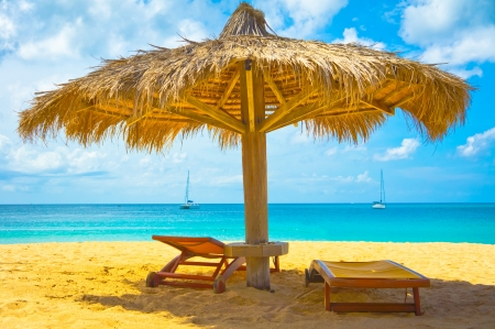 Beautiful beach in Saint Lucia, Caribbean Islands Stock Photo - 16928258