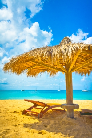 Beautiful beach in Saint Lucia, Caribbean Islands Stock Photo - 16928257