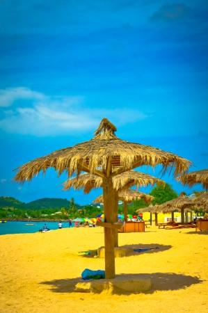 Beautiful beach in Saint Lucia, Caribbean Islands Stock Photo - 16928256