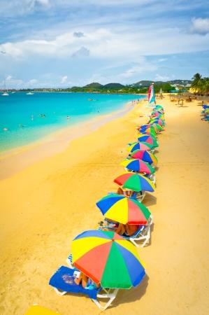 Beautiful beach in Saint Lucia, Caribbean Islands Stock Photo - 16928255
