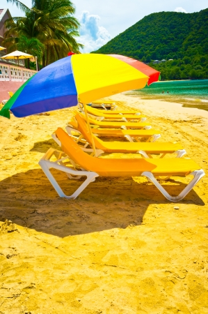 Beautiful beach in Saint Lucia, Caribbean Islands Stock Photo - 16928259