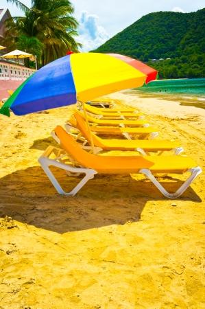 Beautiful beach in Saint Lucia, Caribbean Islands Stock Photo - 16928259