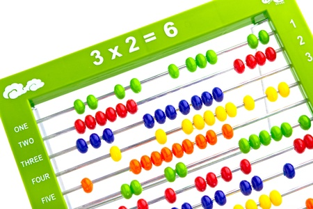 Abacus toy for child isolated on white background Stock Photo - 16945144
