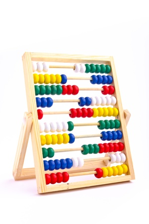 Abacus toy for child isolated on white background Stock Photo - 16945139