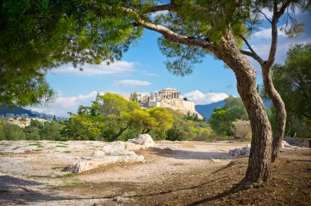 Beautiful view of ancient Acropolis, Athens, Greece photo
