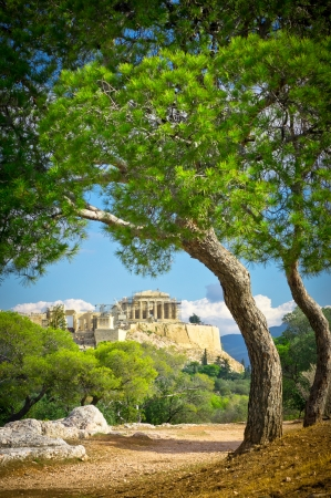 athens: Beautiful view of ancient Acropolis, Athens, Greece
