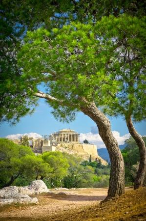Schöne Aussicht auf Akropolis, Athen, Griechenland