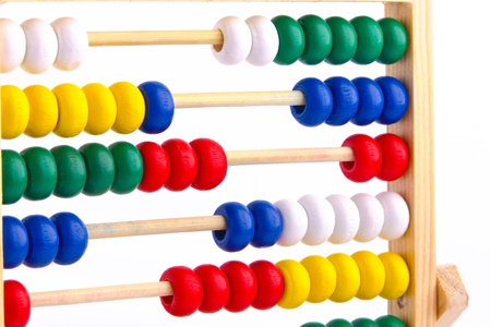 Abacus toy for child isolated on white background Stock Photo - 17757263