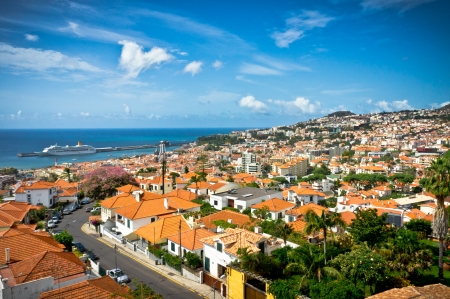 Beautiful view of Funchal, Madeira Island, Portugal Imagens
