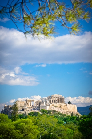 classical greece: Beautiful view of ancient Acropolis, Athens, Greece
