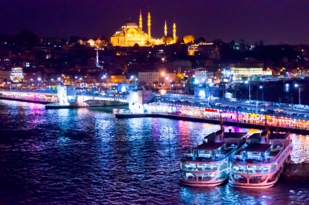 Beautiful view of Istanbul City, Turkey Imagens