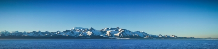 Beautiful panorama of Mountains in Alaska, United States