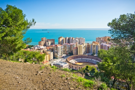 Beautiful view of Malaga city, Spain photo