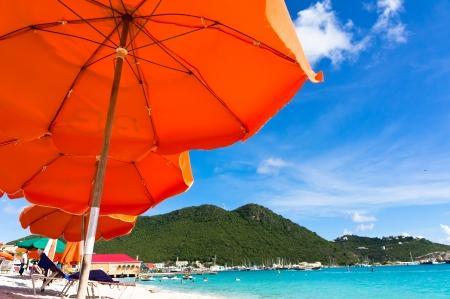 st: Beautiful beach in Philipsburg, Saint Martin, Carribean Islands