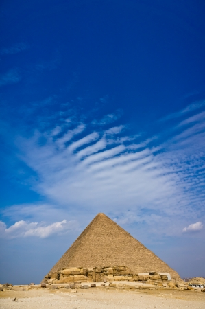 cheops: Pyramid of Khafre in Giza, Egypt