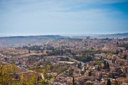 Beautiful view of Jerusalem city, Israel photo