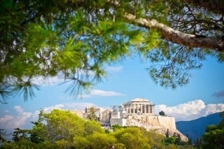 ancient greece: Beautiful view of ancient Acropolis, Athens, Greece