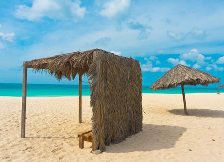 Beautiful beach in Aruba, Caribbean Islands, Lesser Antilles Banco de Imagens