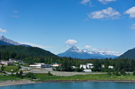 Beautiful view of Haines city near Glacier Bay, Alaska, USA photo