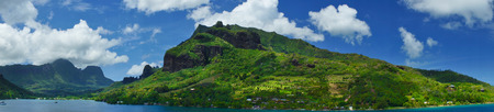 Paradise view of Moorea Islands, Cooks Bay, French Polynesia photo