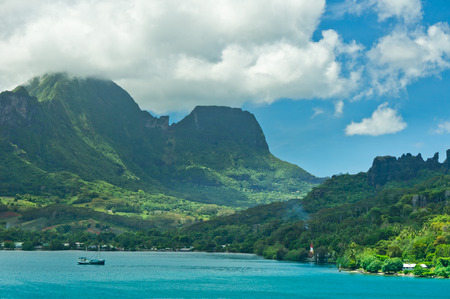 polynesia: Paradise view of Moorea Islands, Cooks Bay, French Polynesia