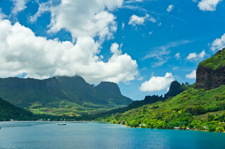 Paradise view of Moorea Islands, Cook's Bay, French Polynesia photo