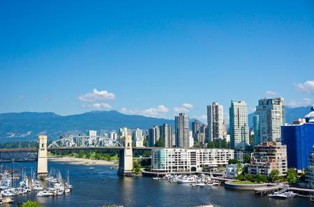 밴쿠버, 브리티시 컬럼비아, 캐나다의 아름 다운보기 스톡 콘텐츠