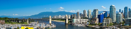 city living: Beautiful view of Vancouver, British Columbia, Canada