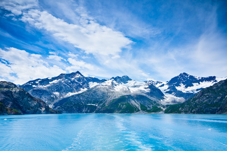 arctic landscape: Glacier Bay in Mountains in Alaska, United States