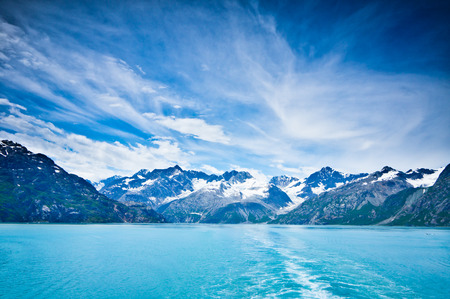 sea scenery: Glacier Bay in Mountains in Alaska, United States