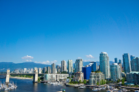 west end: Beautiful view of Vancouver, British Columbia, Canada