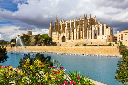 The Cathedral of Santa Maria of Palma de Mallorca, La Seu, Spain Stock Photo