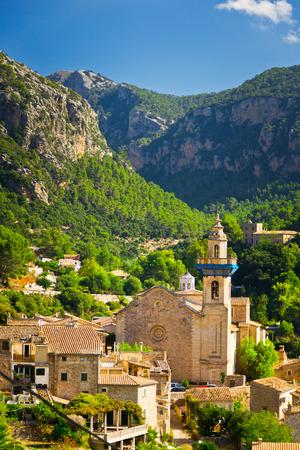 frederic chopin: Beautiful view of Valldemossa city, Mallorca, Spain