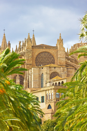 The Cathedral of Santa Maria of Palma de Mallorca, La Seu, Spain photo